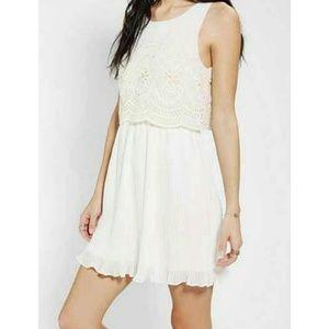Cooperative | Slit Back Eyelet Dress, Size S